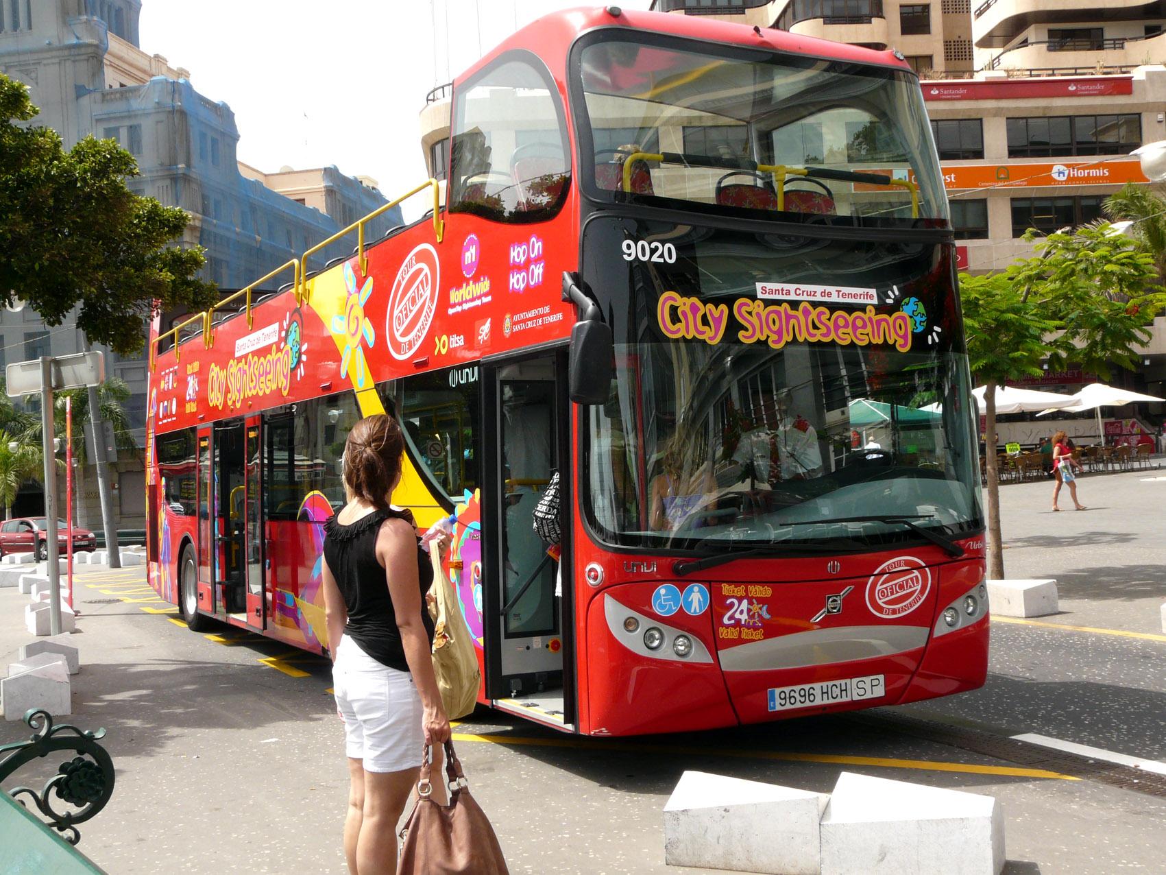Bus turístico de Santa Cruz de Tenerife