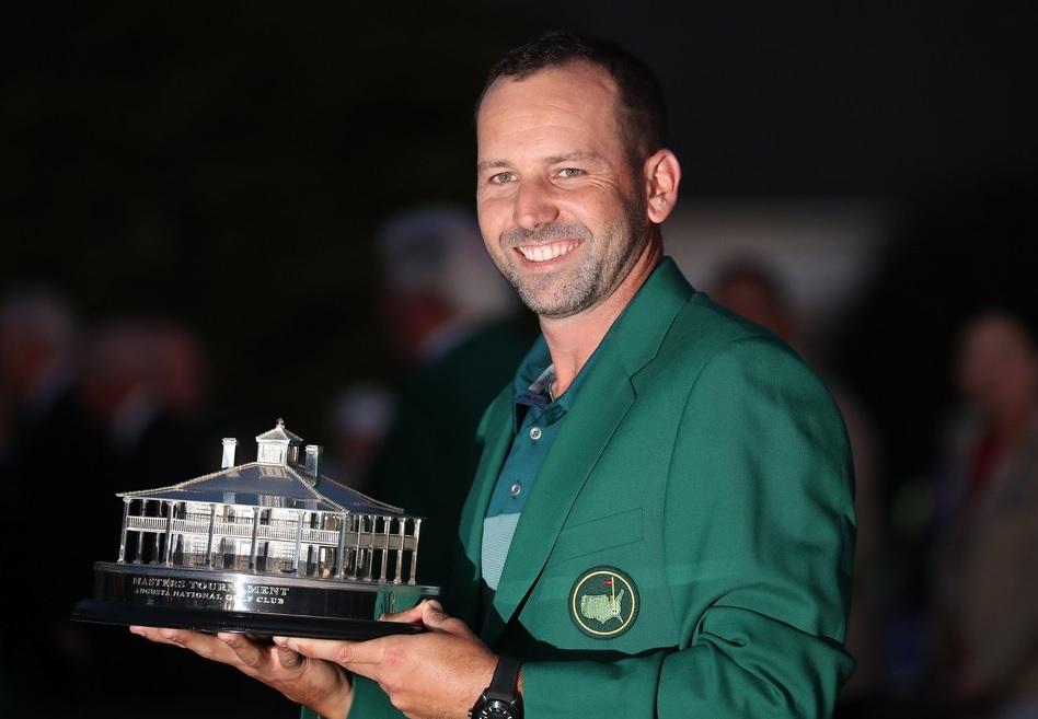 Sergio García con la chaqueta verde del Masters de Augusta