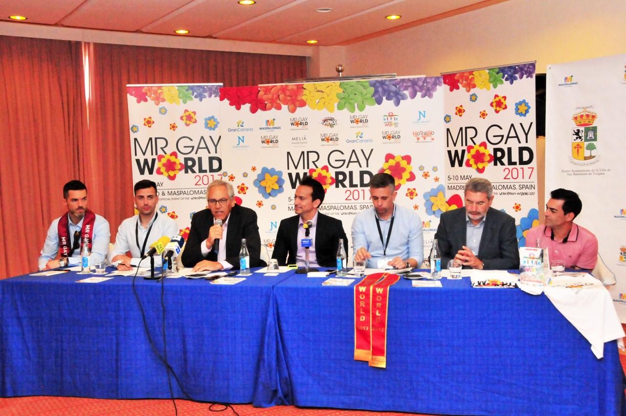 Presentación del Mr. Gay World 2017 en San Bartolomé de Tirajana