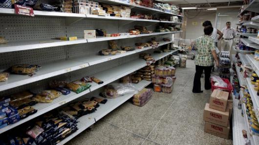 Desabastecimiento en supermercado Venezuela