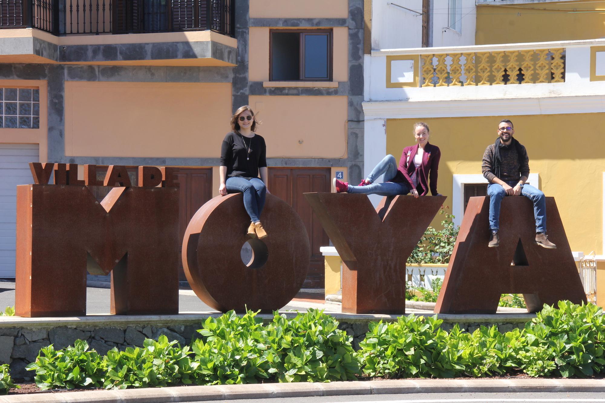Voluntarios europeos en Moya