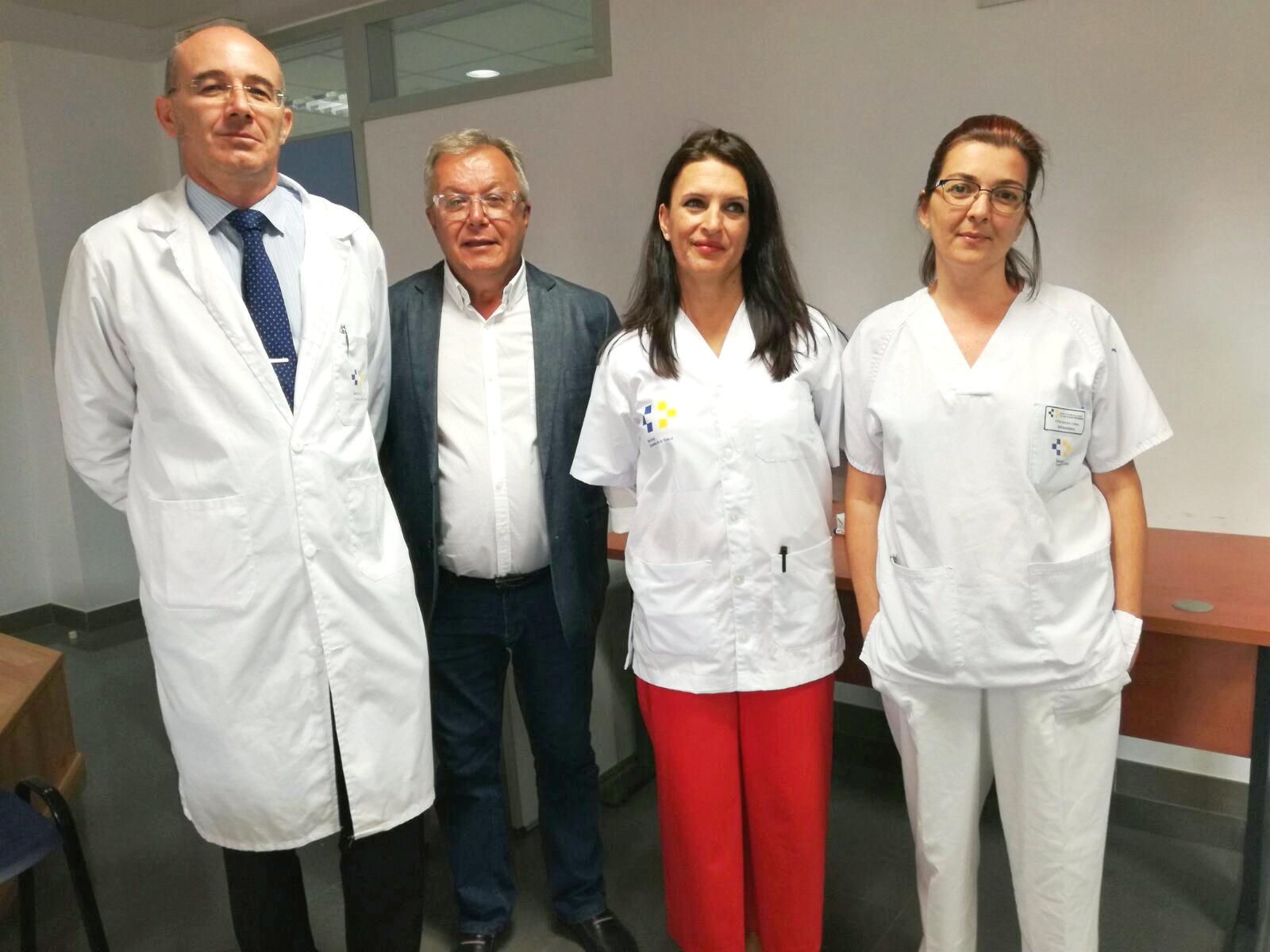 Jesús Flores, Miguel Rodríguez y María Rosario Calero