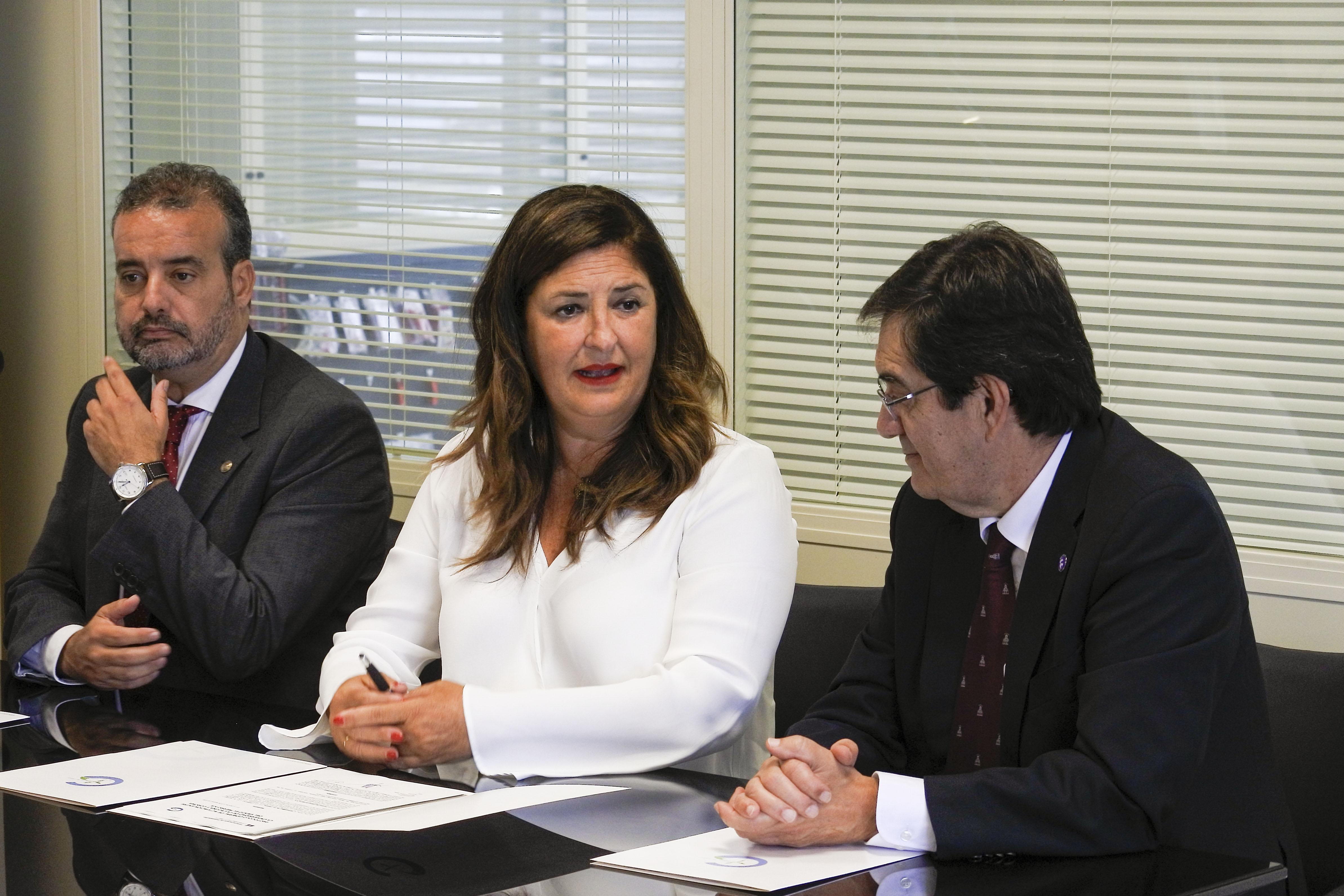 Belén Allende, Rafael Robaina y Antonio Martinón