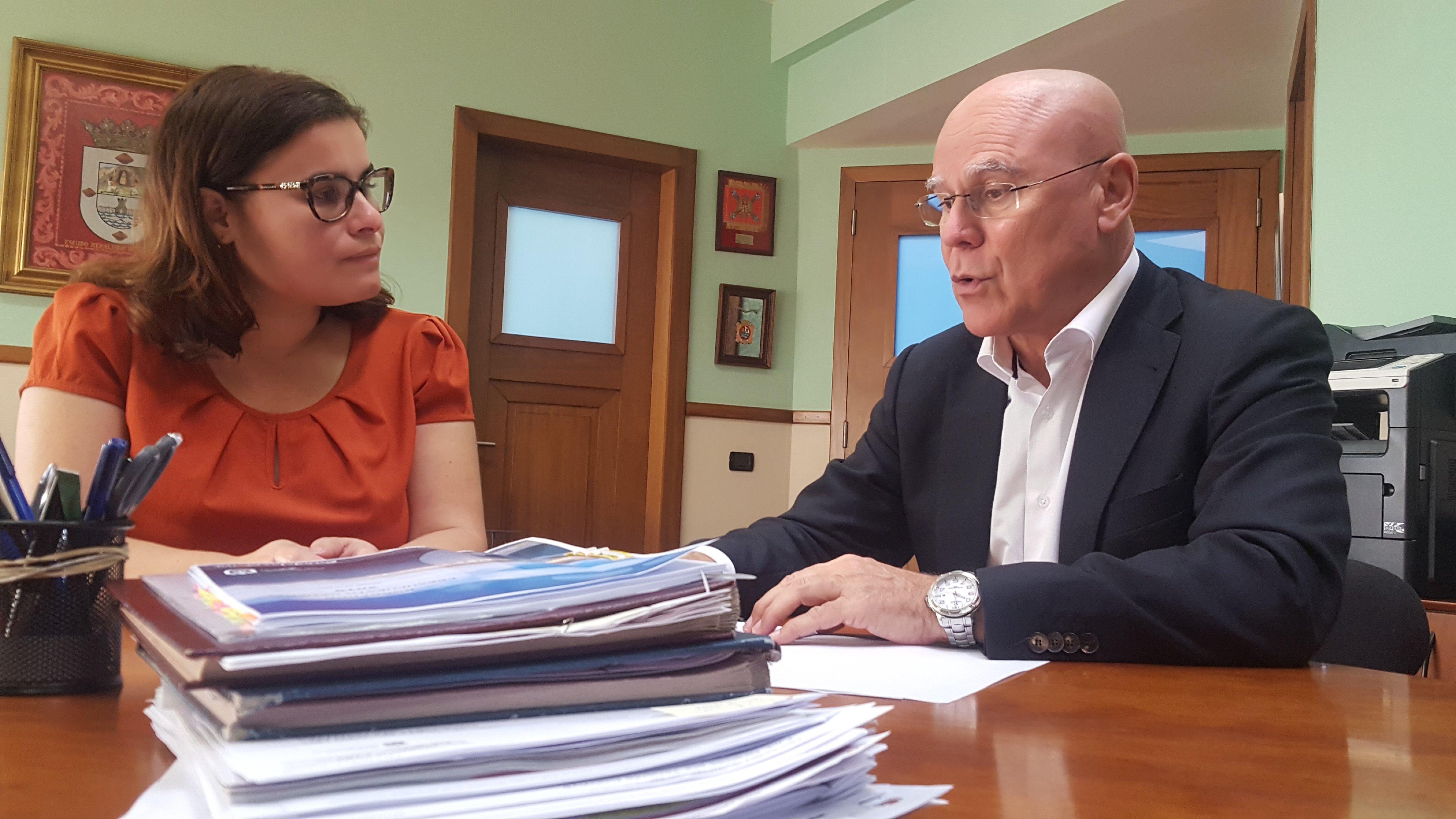 María Concepción Brito y Rafael Yanes