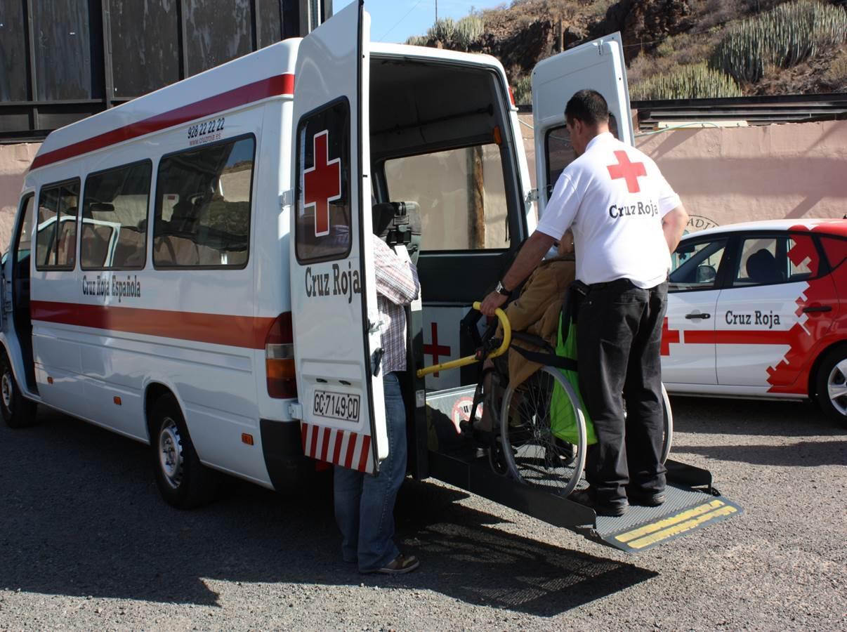 Servicio de transporte adaptado de Cruz Roja