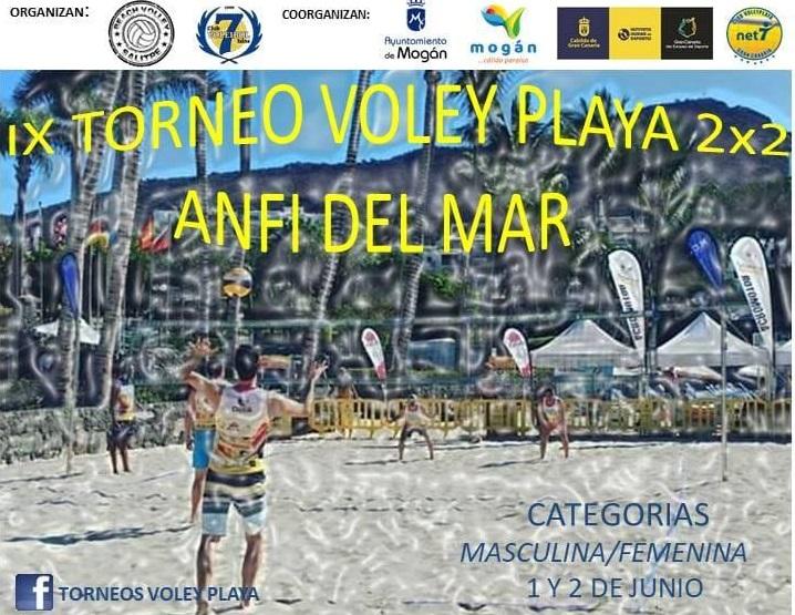 Cartel Torneo Voley Playa Anfi Del Mar Junio 2019