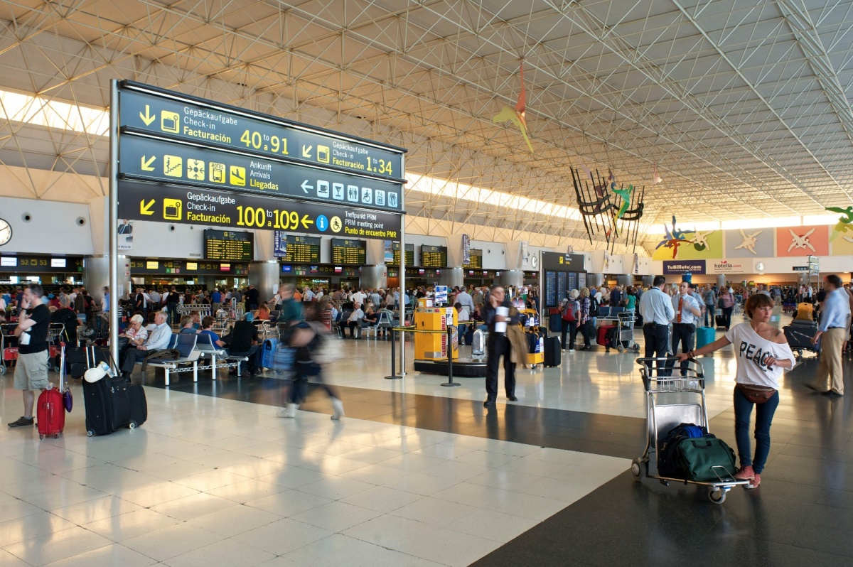 Interior de aeropuerto