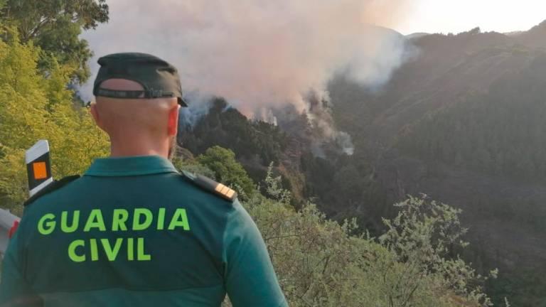 Guardia Civil en el Incendio forestal de Gran Canaria