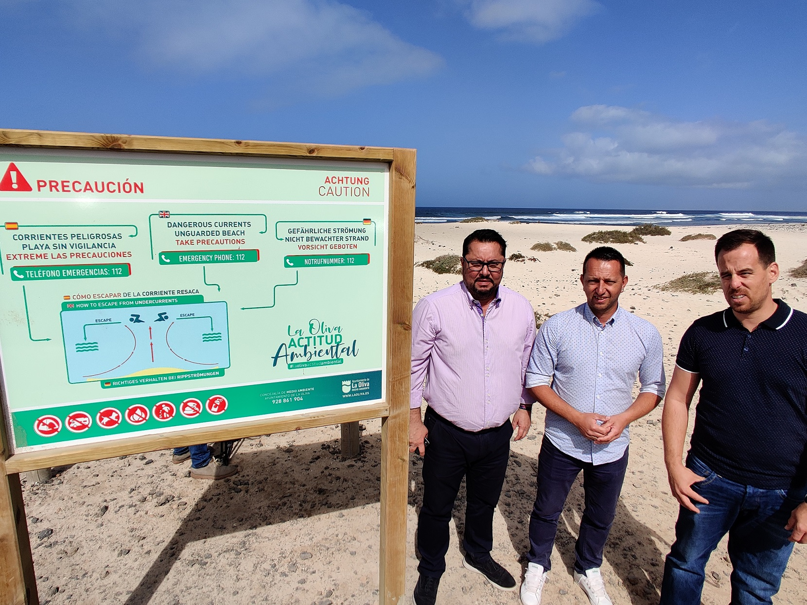 La Oliva instala nuevos carteles de sensibilización ambiental