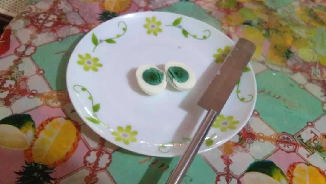 Huevos con yema verde