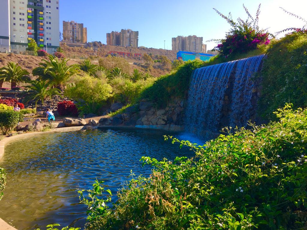 cascadas del parque Jaime O´shanaha en Jinámar, Telde