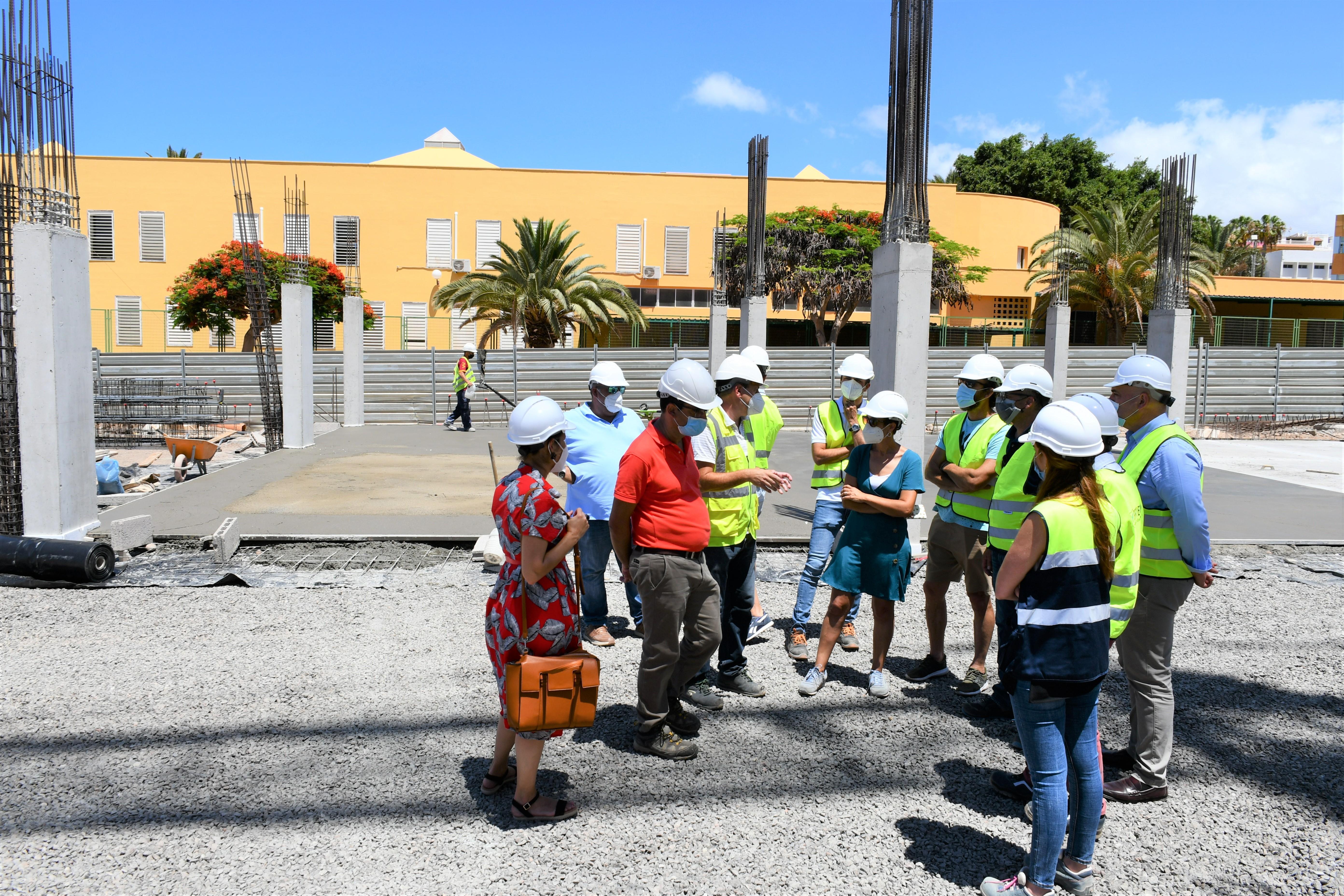 Visita a las obras del edificio de aparcamientos de Arguineguín. Gran Canaria