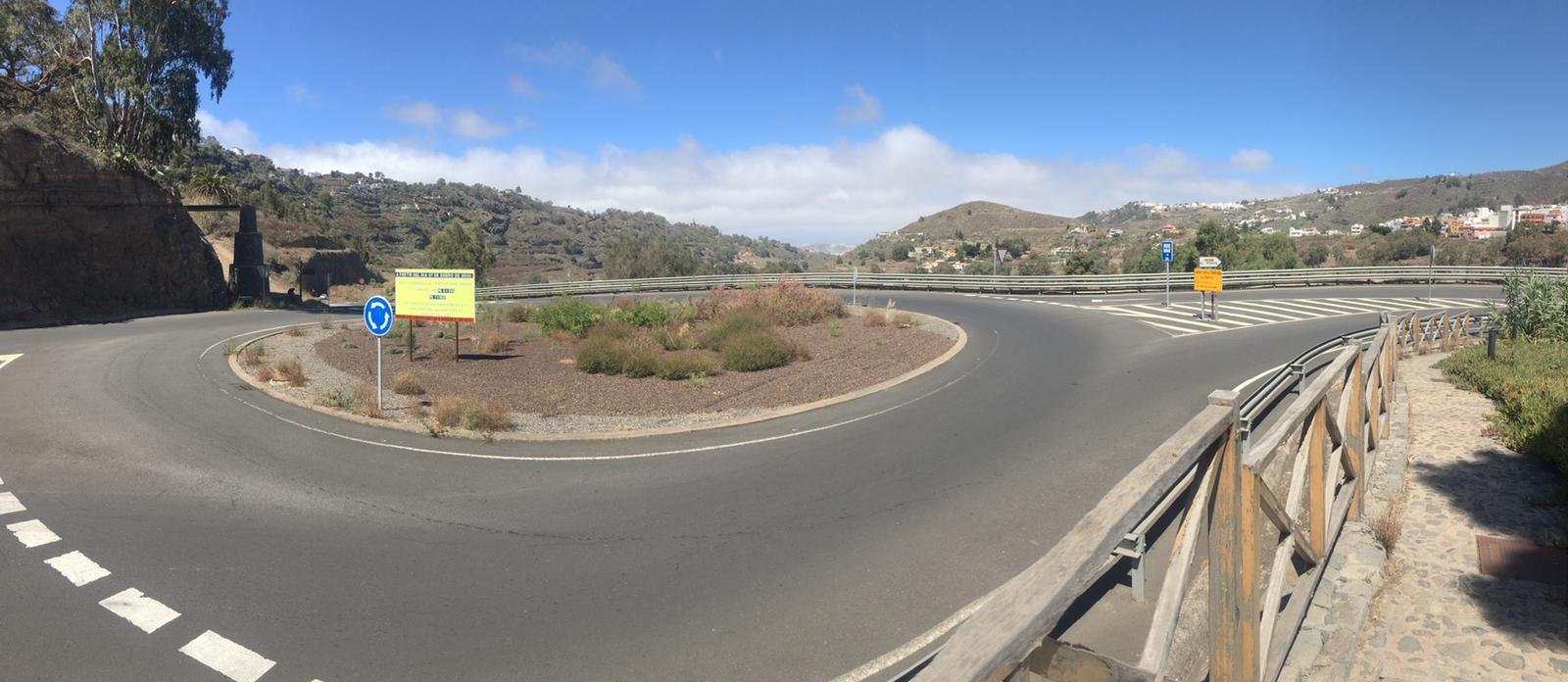Rotonda de entrada a Teror. Gran Canaria