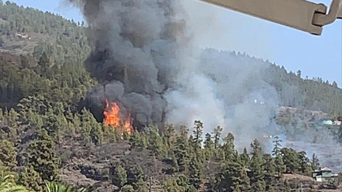 Incendio forestal de Tijarafe. La Palma