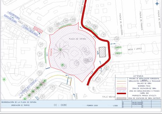 Las Palmas de Gran Canaria reordena el tráfico de la Plaza de España
