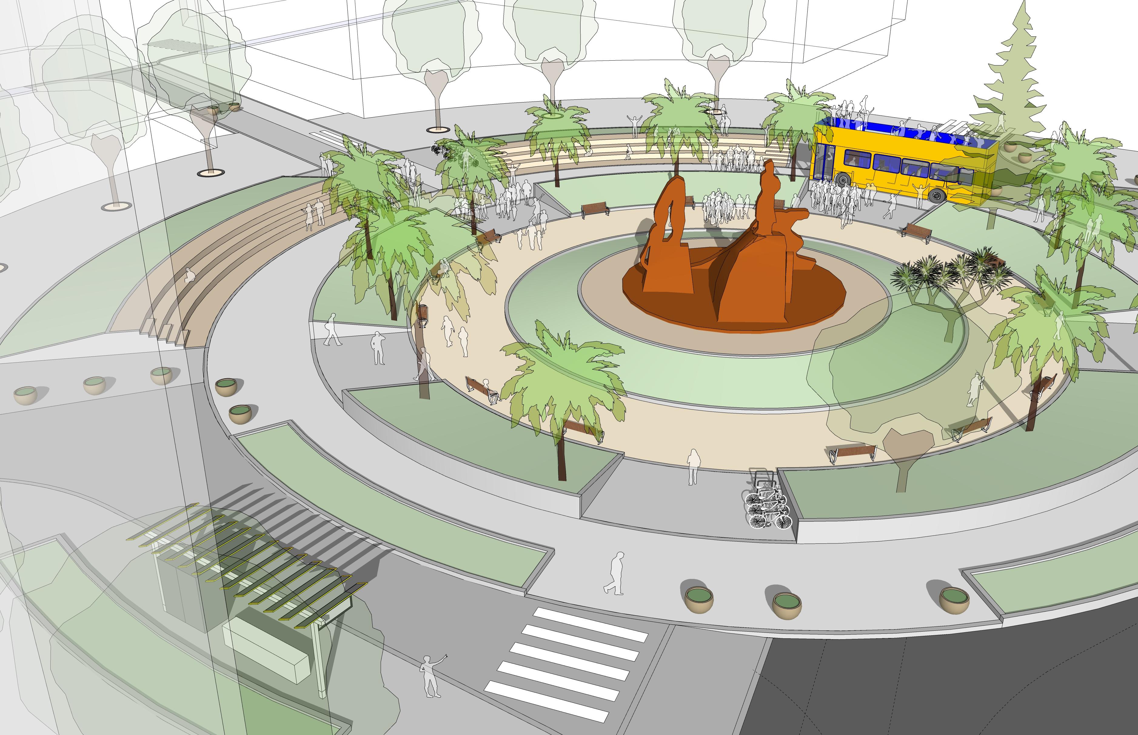 Peatonalización de la Plaza de España. Las Palmas de Gran Canaria
