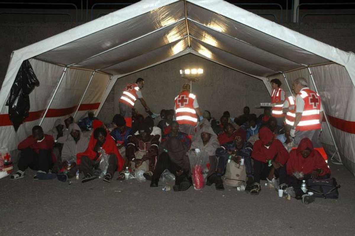 Inmigrantes en Arguineguín. Gran Canaria