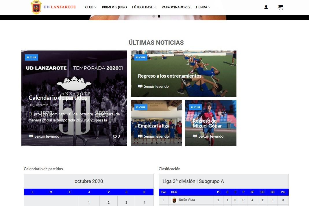 Web de la UD Lanzarote
