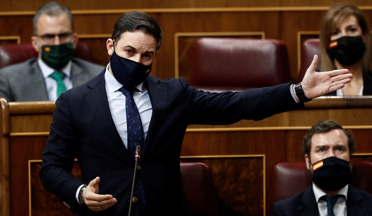 Santiago Abascal en la moción de censura