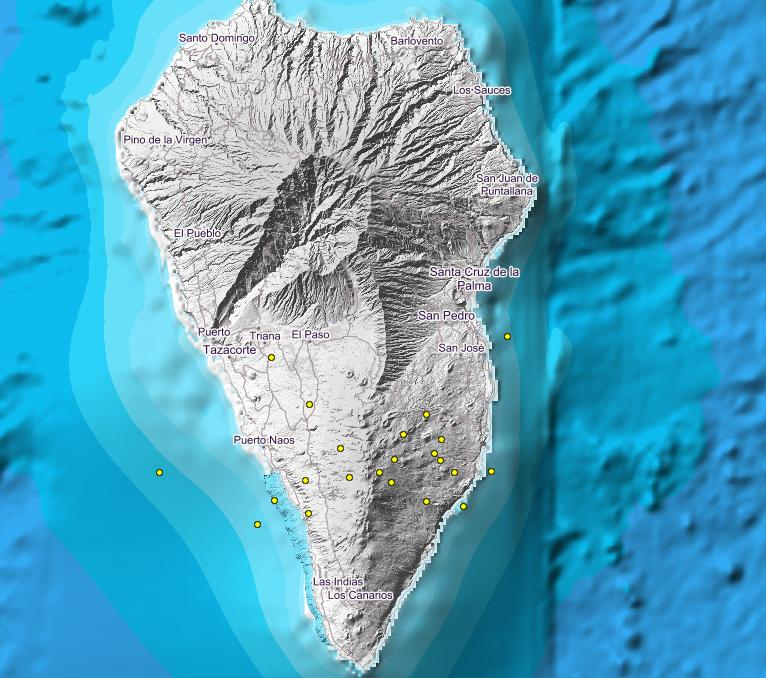 Detectados al menos 49 terremotos en el sur de La Palma