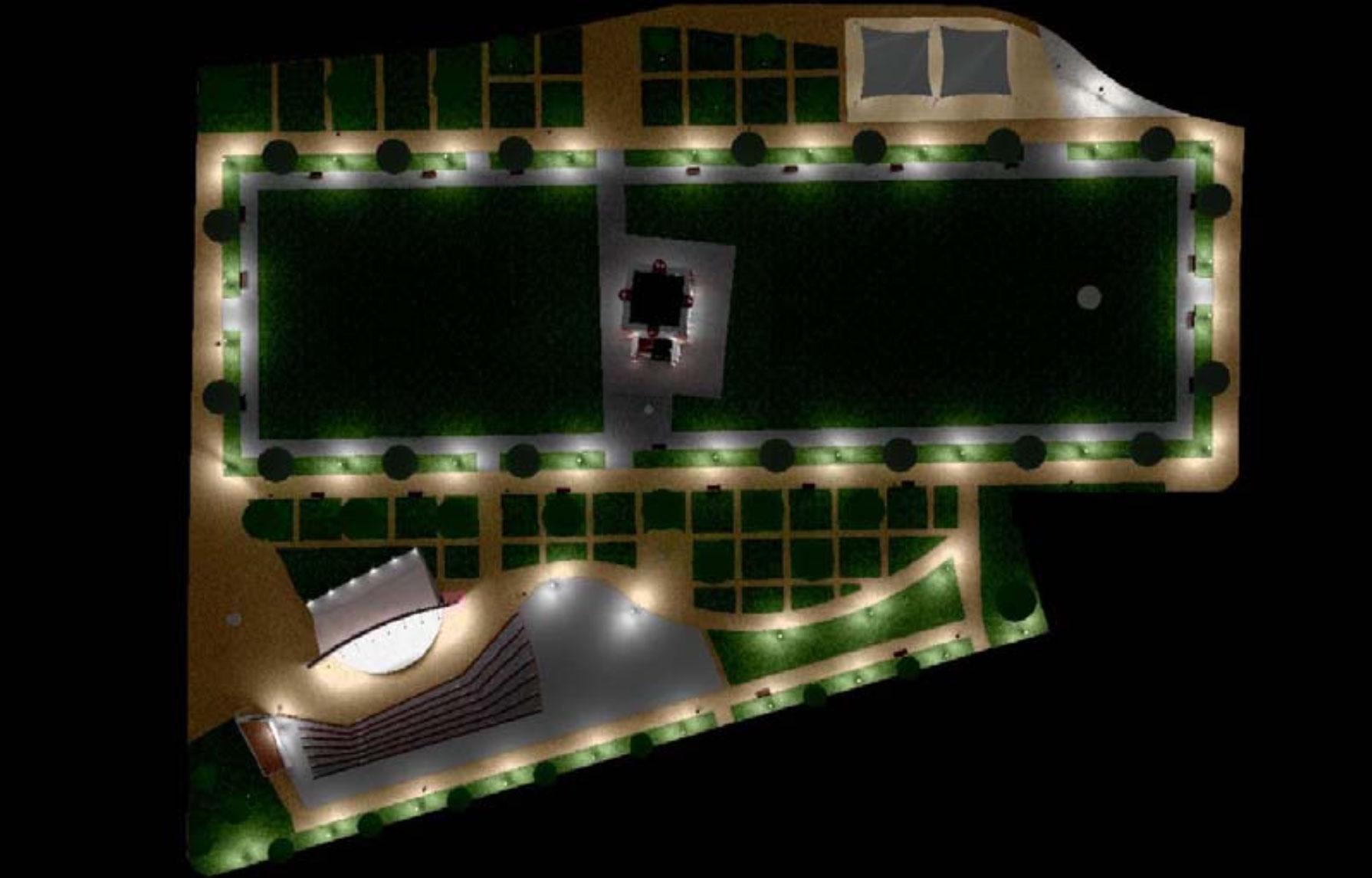 Nueva iluminación del Parque de La Torre del Conde, SS de La Gomera / CanariasNoticias.es