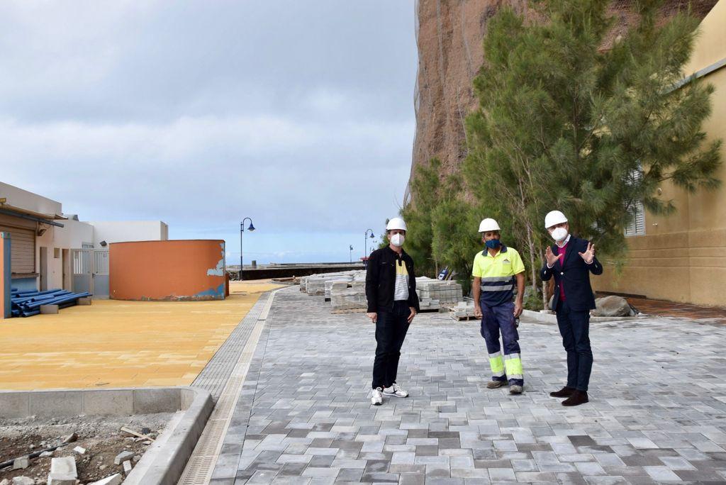 Teodoro Sosa comprueba el avance de las obras / CanariasNoticias.es