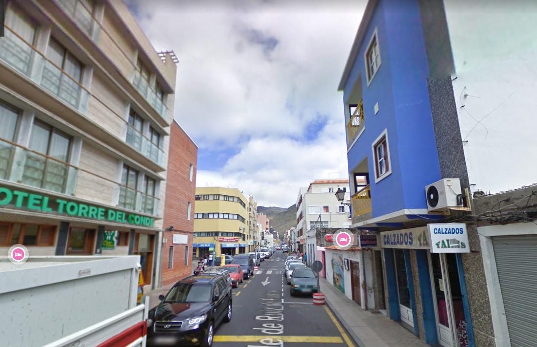Calle Ruiz de Padrón en el municipio de San Sebastián de La Gomera