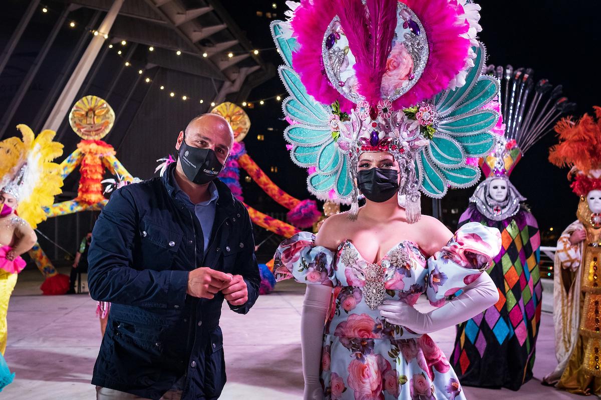 Guardianas del cetro del carnaval de Santa Cruz de Tenerife / CanariasNoticias.es