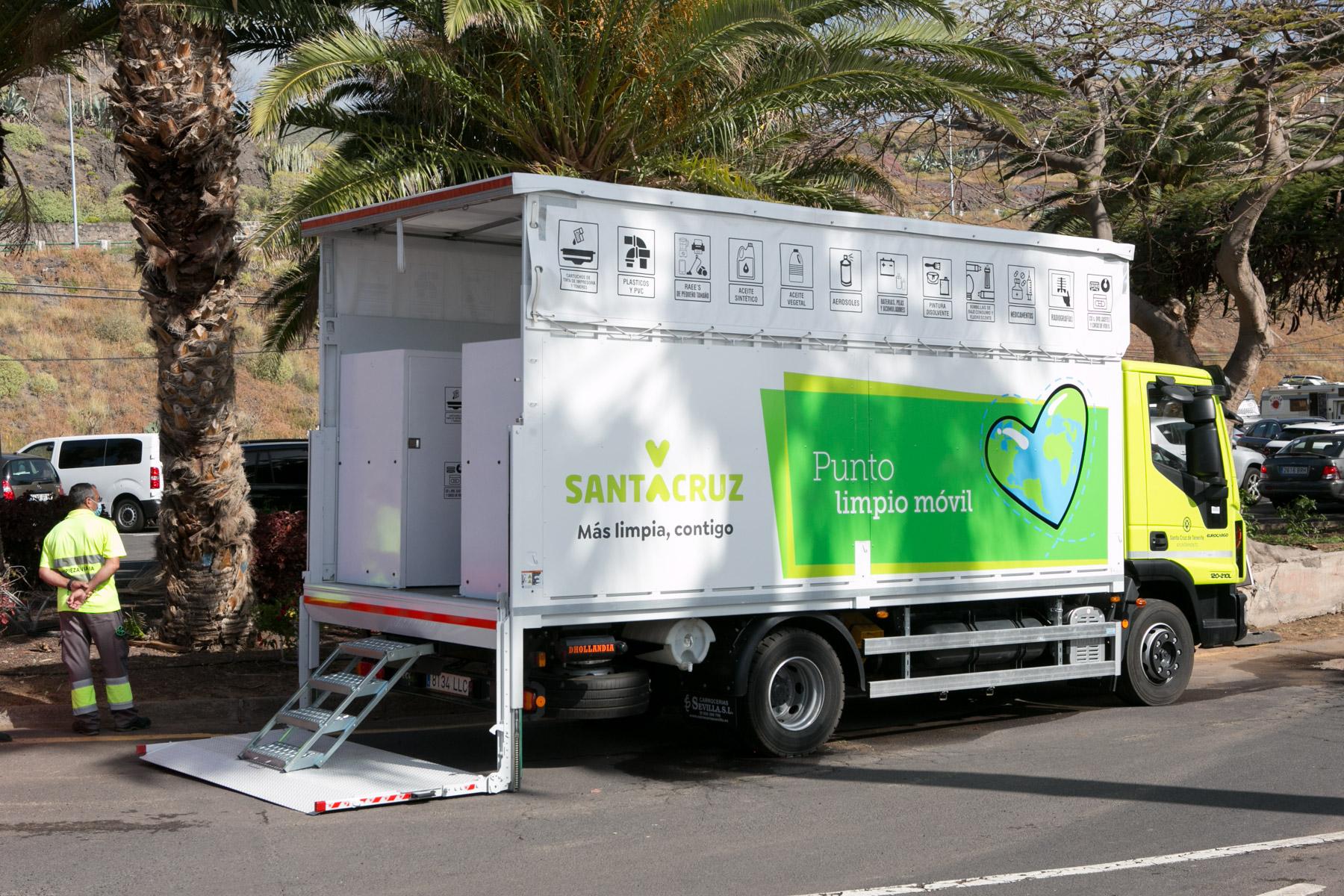 Punto Limpio móvil de Santa Cruz de Tenerife / CanariasNoticias.es