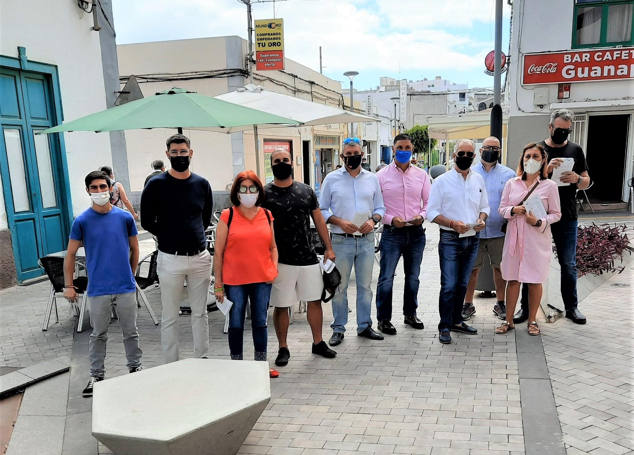 Campaña de Apoyo al Comercio y la Hostelería de VOX en Arrecife / CanariasNoticias.es