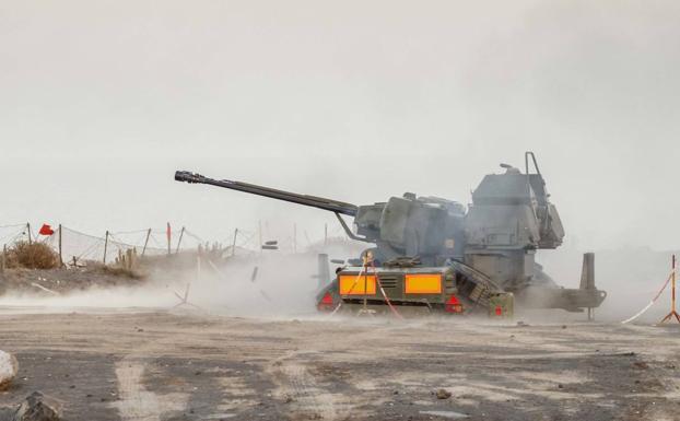 Maniobras militares en La Isleta, Las Palmas de Gran Canaria