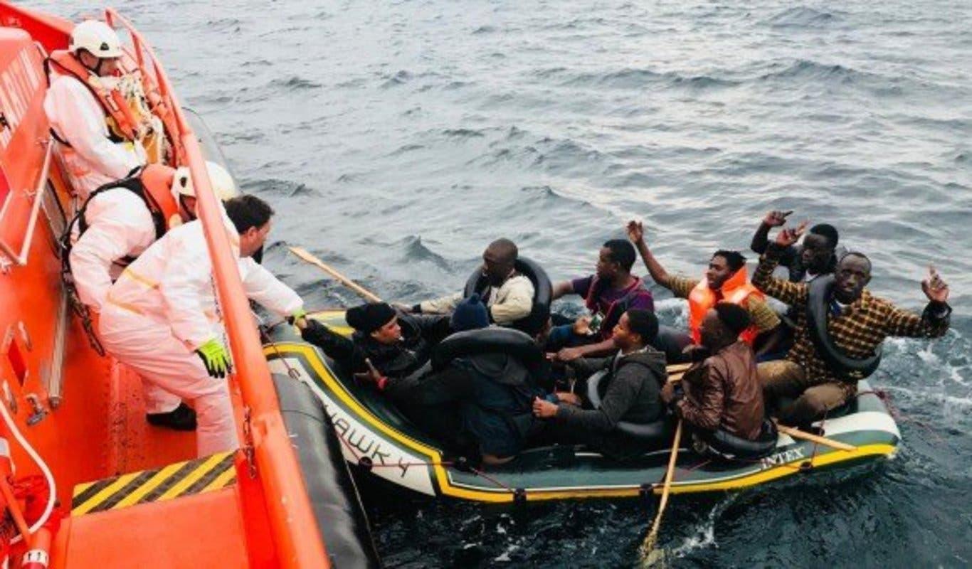 Salvamento Marítimo rescata una patera