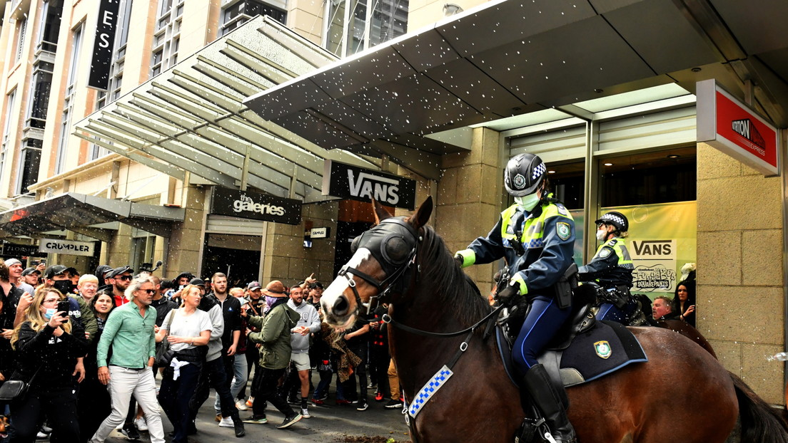 Protestas en Sídney contra el confinamiento por Covid-19