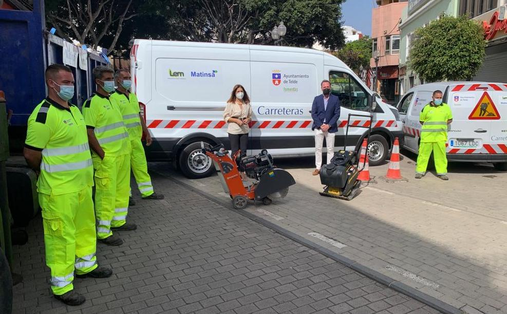 Presentación del servicio de mantenimiento de vías de Telde / CanariasNoticias.es