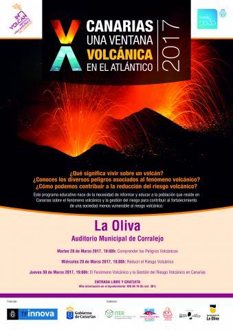 Cartel de las  jornadas sobre vulcanología