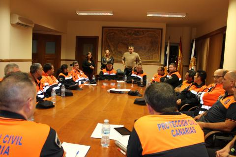 Reunión de jefes de Protección Civil en Candelaria