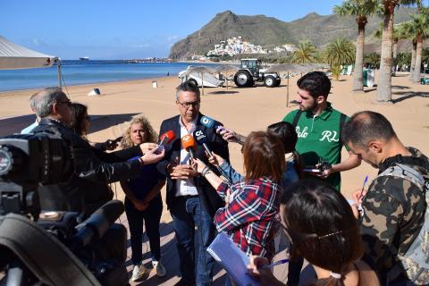 Presentación mejoras de la Playa de Las Teresitas