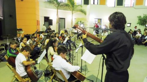 Alumnos de la Escuela Municipal de Música de San Bartolomé de Tirajana