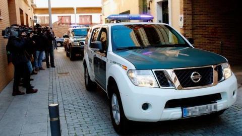 Guardia Civil deteniendo a yihadista en Segovia