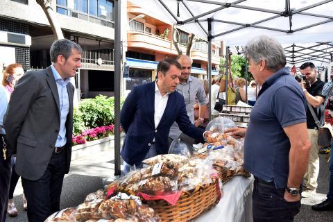 Fernando Clavijo y José Manuel Bermúdez en las Fiestas de Mayo de Santa Cruz de Tenerife