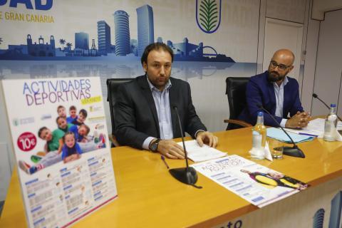 Aridany Romero en la presentación de las actividades de verano en Las Palmas de Gran Canaria