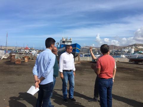 Visita al puerto de Arguineguín