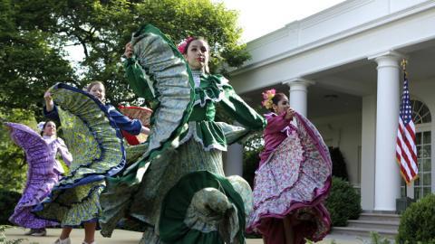 Bailarinas mejicanas en la Casa Blanca