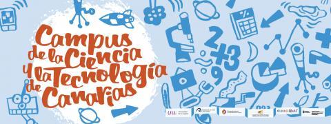 Cartel del Campus de la Ciencia y la Tecnología de Canarias