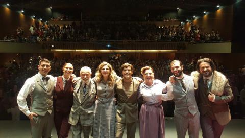 """Elenco de """"La Ratonera"""" en el Teatro Cuyás"""