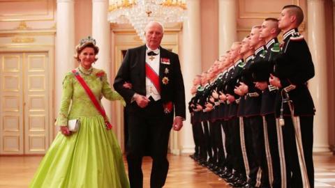 Los reyes Harald y Sonia de Noruega