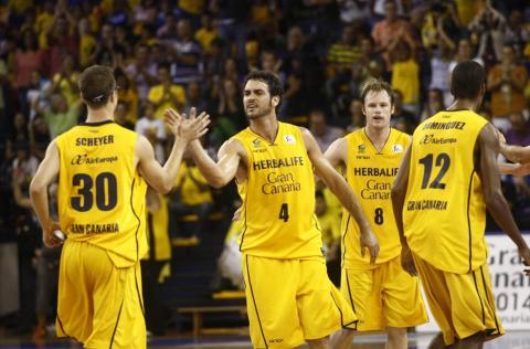 Jugadores del Herbalife Gran Canaria