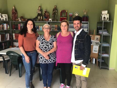 David Suárez en la visita a El Polvorín