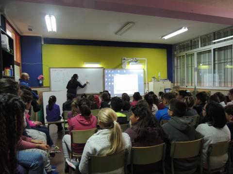Alumnos en las Jornadas de concienciación ambiental