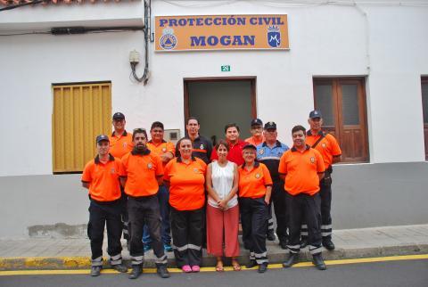 La Alcaldesa de Mogán, Onalia Bueno con Pretección Civil